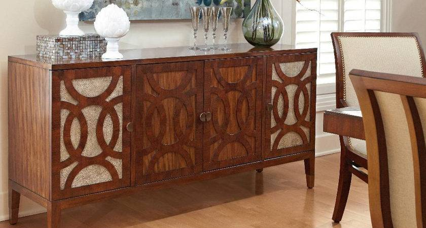 Elegant Dining Room Side Table Buffet Glass
