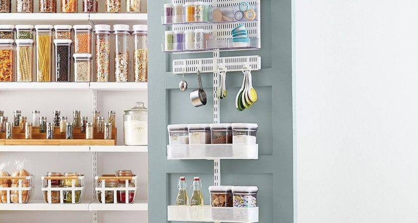 Elfa Utility White Mesh Pantry Door Wall Rack