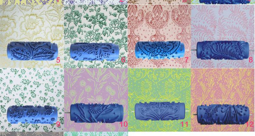Empaistic Pattern Wall Decorative Painting Roller