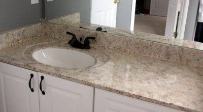 Enroute Life Painted Faux Granite Countertops Master