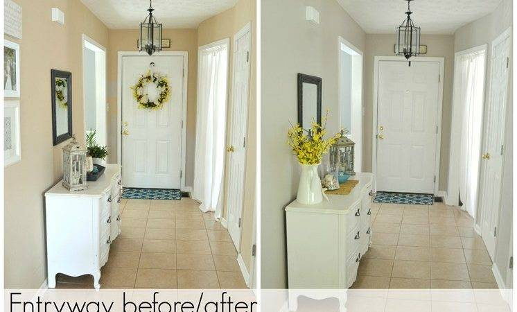 Entryway Before After Beige Greige Behr Paint