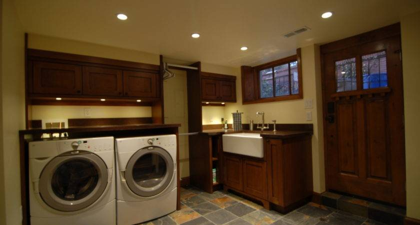 Enzy Living Laundry Room Basement Craftsman Home