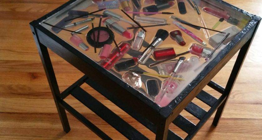 Epoxy Diy Makeup Top Table Made Glass