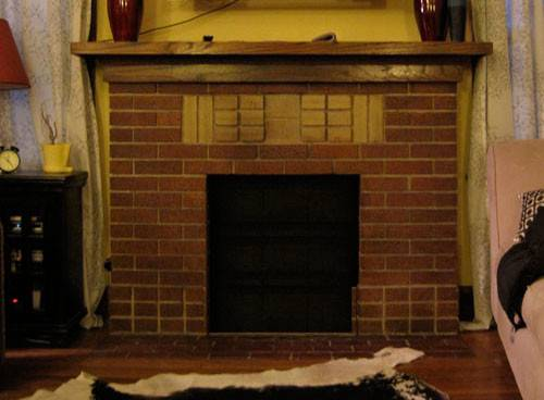Erfeidine Updating Brick Fireplace Before After