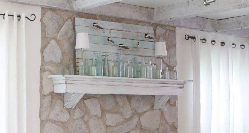 Erin Art Gardens Chalk Painted Stone Fireplace