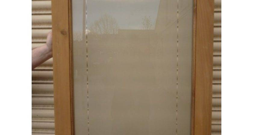Etched Glass Door Single Panel Clear Border