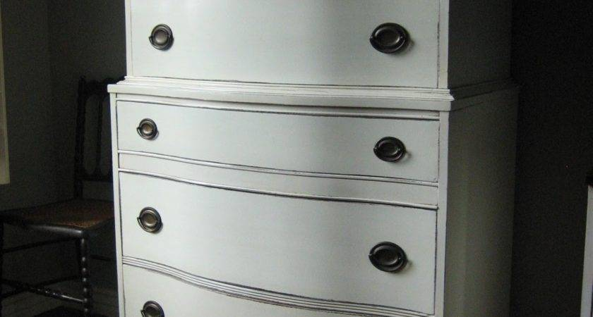 European Paint Finishes Antique White Dresser Vanity