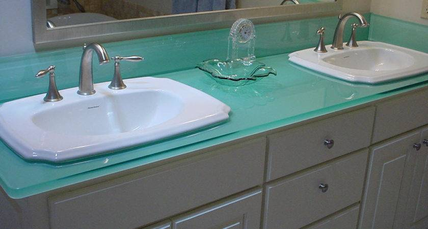 Examples Eco Friendly Glass Countertops Furniture