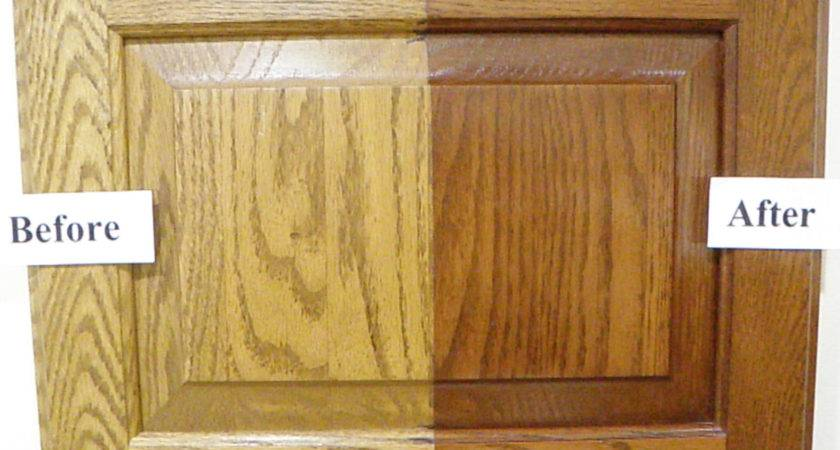 Exceptional Refinishing Oak Kitchen Cabinets