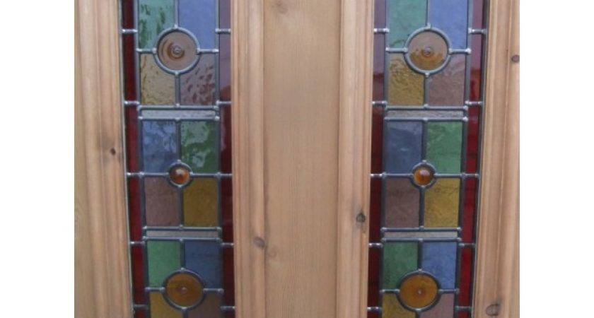 Exterior Panel Door Vibrant Stained Glass