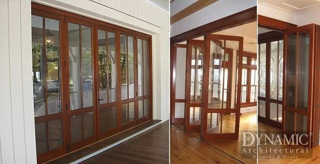 Exterior Wood Fold Doors Dynamic Architectural