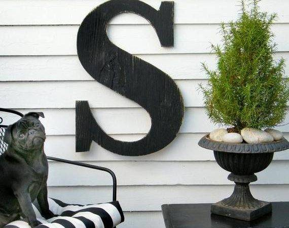 Extra Large Letter Wall Decor Wooden Big