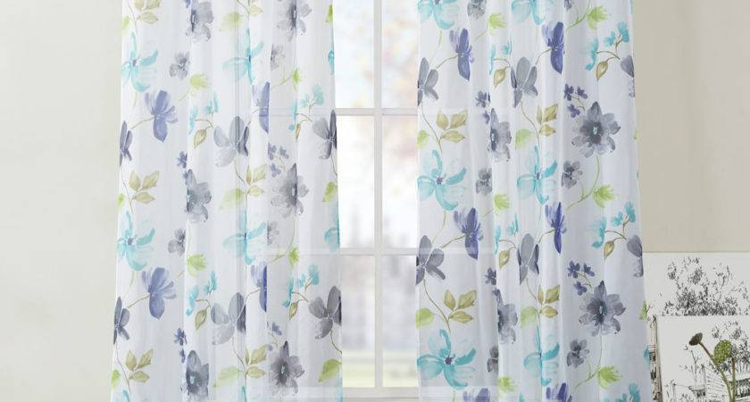 Extra Long Two Piece Sheer Grommet Window Curtain