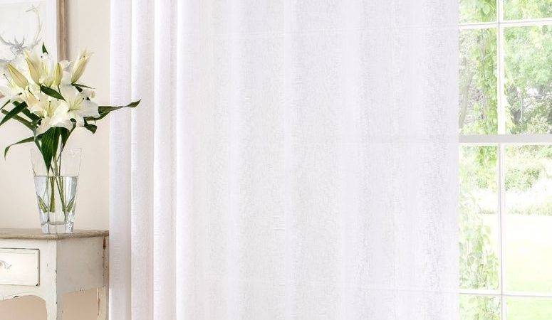 Extra Wide Soft White Linen Rich Curtain Voile Panel Many