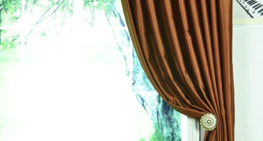 Extra Wide Swan Brown Solid Pencil Pleat Curtains