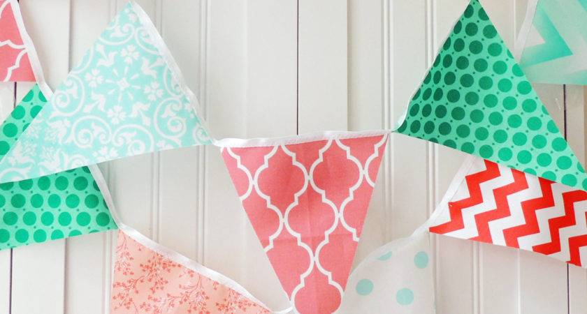 Fabric Banner Bunting Pennant Flags Wedding Garland
