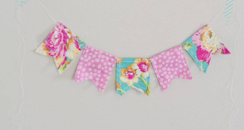 Fabric Pennant Banner Large