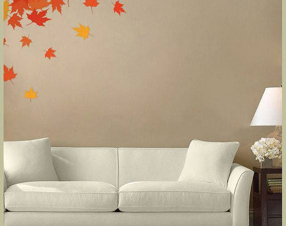 Fabric Wall Decal Autumn Leaves