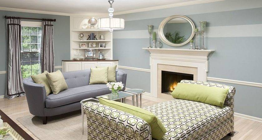 Fabulous Living Rooms Striped Accent Walls