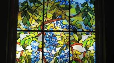 Fake Frugal Stained Glass Window