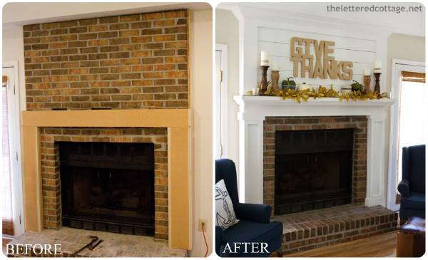 Fall Home Improvement Idea Freshening Your Fireplace