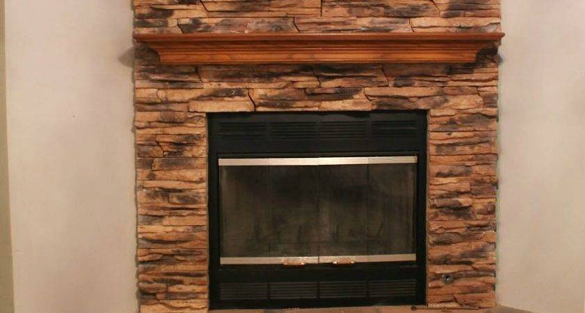 Fancy Shack Stone Fireplace Makeover