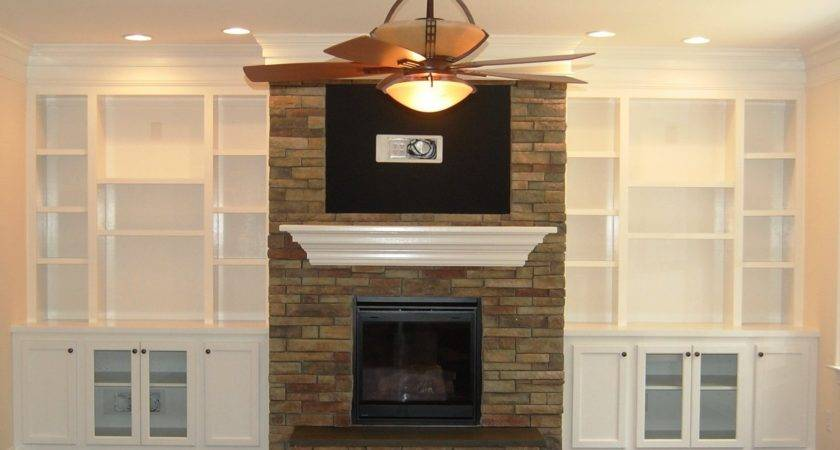 Fantastic Built Bookcases Around Fireplace Yvotube