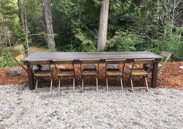 Farm Table Bench Chair Rentals Olympic Style Events