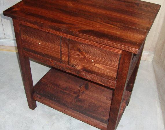 Farmhouse Bedside Table Nightstand Youreunique Etsy
