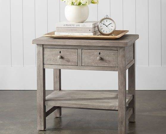 Farmhouse Drawer Bedside Table Pottery Barn