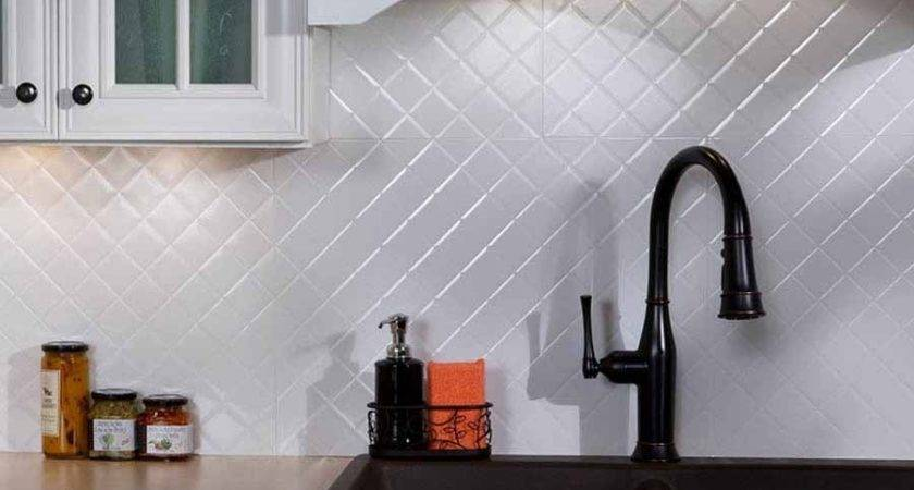 Fasade Backsplash Quilted Gloss White