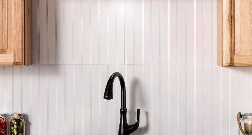 Fasade Bead Board Vinyl Backsplash