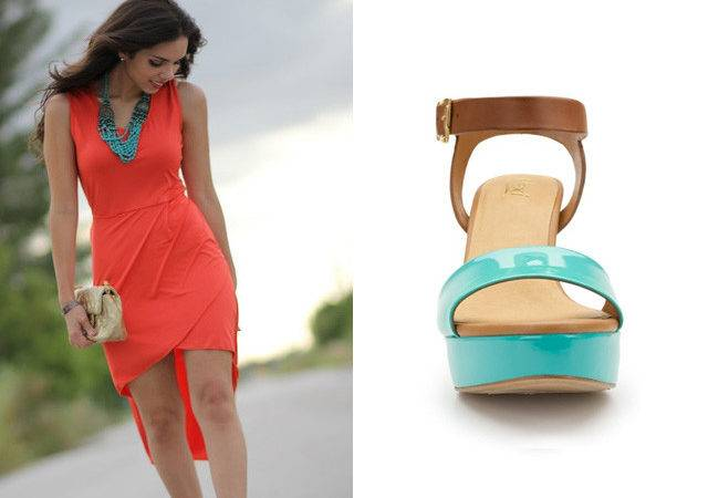Fashiontip Shoe Color Goes Best Coral Dresses