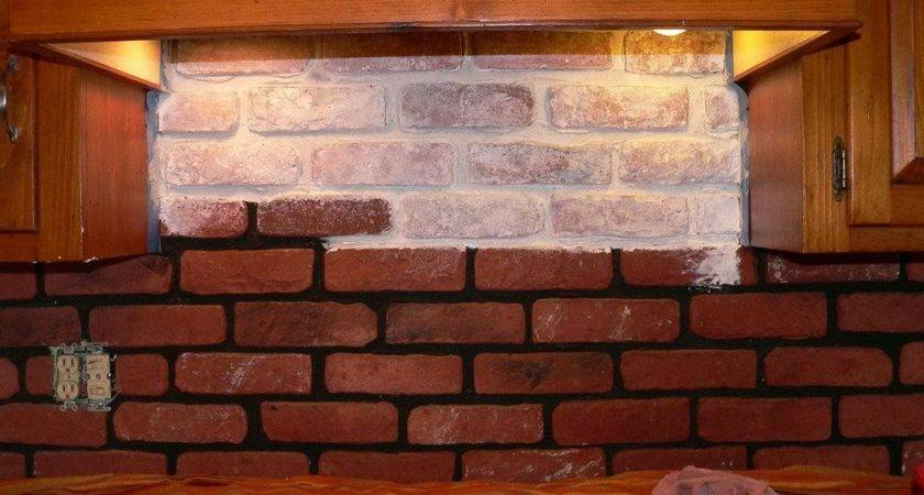 Faux Brick Tile Backsplash Elegant Diy Cement