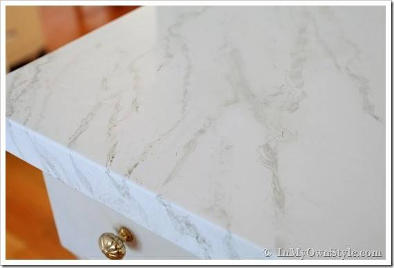 Faux Carrara Marble Painting Technique Makeover