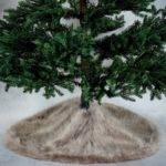 Faux Fur Christmas Tree Skirt Grey Matalan