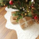 Faux Fur Christmas Tree Skirt Xmas Decorations Snow