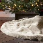 Faux Fur Christmas Tree Skirts Happy Holidays