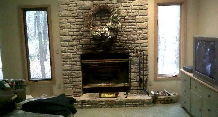 Faux Stone Fireplace Budget Solution Your Home