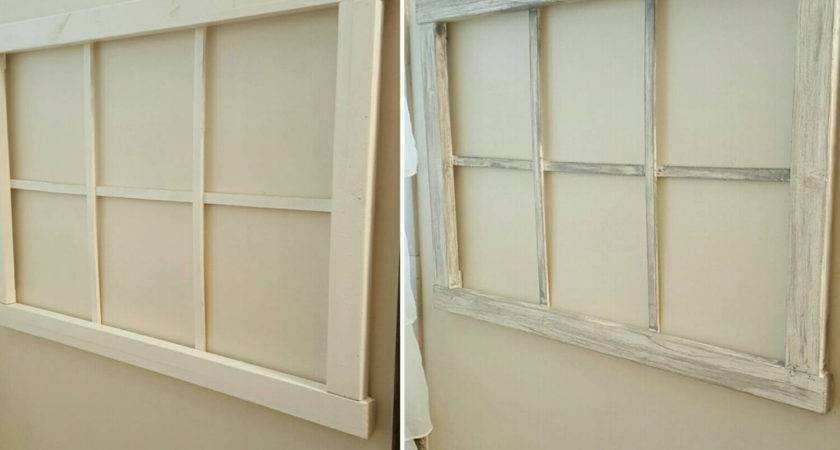 Faux Window Frame Wall Decor Home