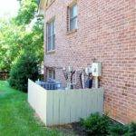 Fence Around Air Conditioning Units