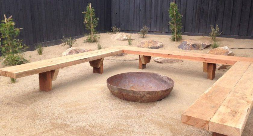 Fire Pit Bench Seating Landscaping Excellence