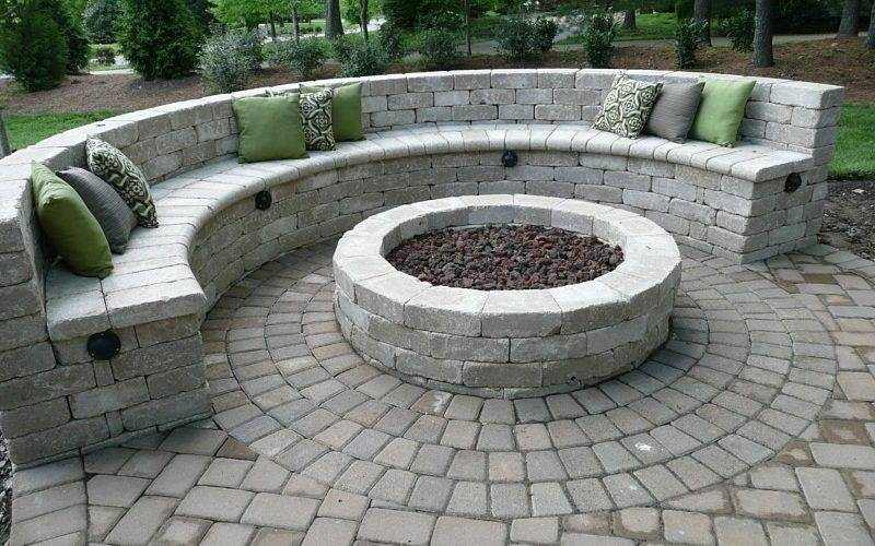 Fire Pit Seating Wall Fireplace Design Ideas