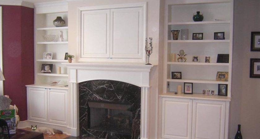 Fireplace Bookcases Photos Houses Plans Designs