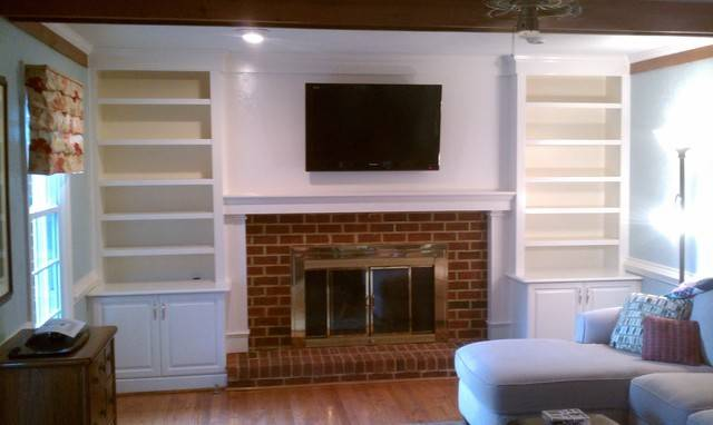 Fireplace Bookcases Traditional Room Other