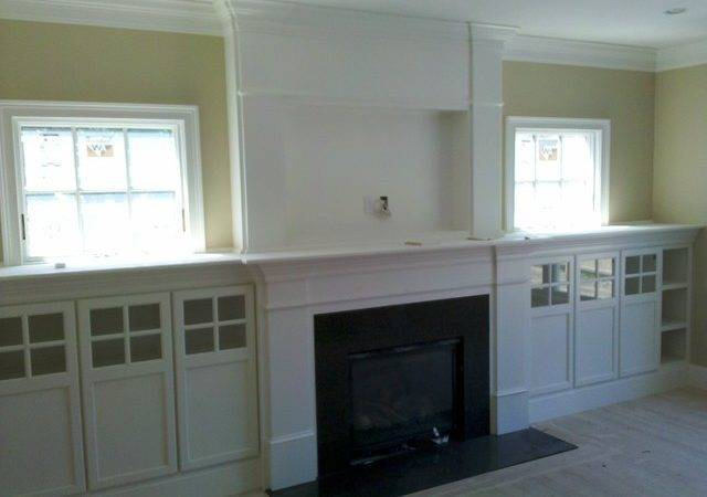 Fireplace Built Ins Traditional Room Boston