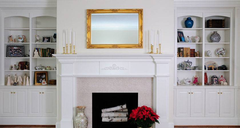 Fireplaces Bookcases Houses Plans Designs