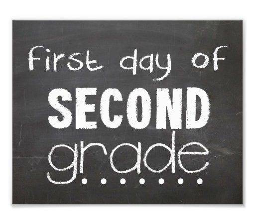 First Day Grade Chalkboard Sign Print Zazzle