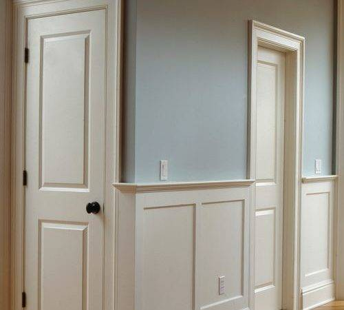 Flat Panel Wainscoting Home Design Ideas