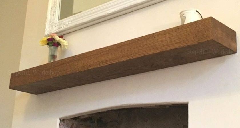 Floating Mantel Shelf Wall Fireplace